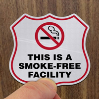 No Smoking Shield Label Set