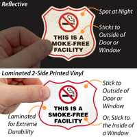This Is A Smoke-Free Facility Label