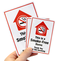 This Is A Smoke-Free Home Label