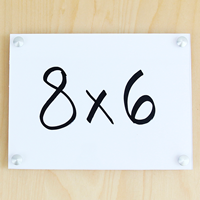 Acrylic Standoff Wall Frame Sign