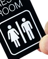 2-Sided Men Women Bathroom Key Chain