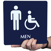 Restroom Accessible Men Signs