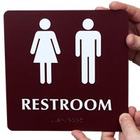 Restroom Men Women Signs