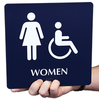 Women Female Accessible Signs