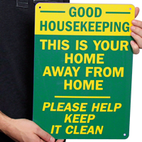 Good Housekeeping This Is Home Away Signs