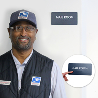 Mail Room Tactile Touch Braille Signs