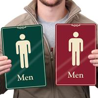 Men Restroom Signs