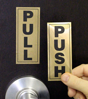 Pull Push Set Polyster Signs