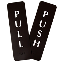 Pull/Push Vertical Set Engraved Door Signs