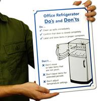 Office Refrigerator Signs