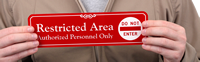 Restricted Area, Authorized Personnel Only ShowCase™ Wall Signs