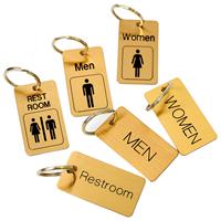 Brass Engraved Restroom Key chain