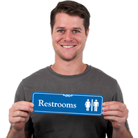 Restroom Man Woman Symbol Signs