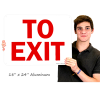 To Exit Signs