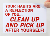 Housekeeping Clean Signs