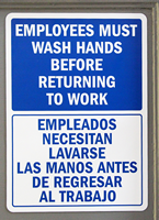 Employees Must Wash Hands Before Returning To Work Signs