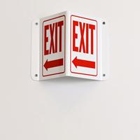 Left Arrow Exit Sign