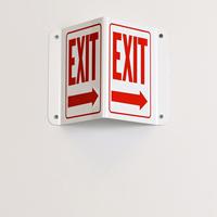 Right Arrow Exit Sign
