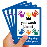 Did Wash Hand Washing Stops Germs Signs