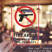 Firearms Not Allowed On Property