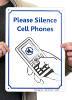Please Silence Cell Phones Signs