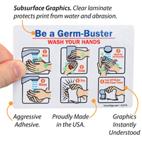 Be A Germbuster! Join 'Scrub Club' Sign