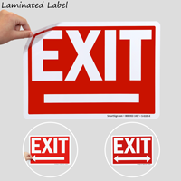 Directional Arrowheads Exit Signs