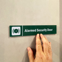 Alarmed Security Sign