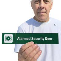Alarmed Security Door Sign