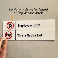 This Is Not An Exit Stackable Sign