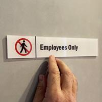 Employees Only Door Sign