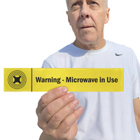 Warning: Microwave in Use Sign