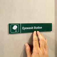 Eyewash Station Door Sign