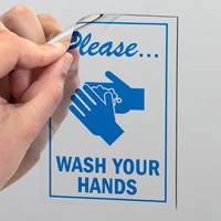 Please Wash Your Hands Decal