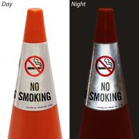 No Smoking Cone Message Collar safety Saign
