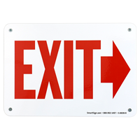 Directional Arrow Exit Sign