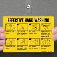 Effective Hand Washing Hand Hygiene Sign