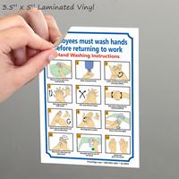 Employees Wash Hands Etiquette Signs