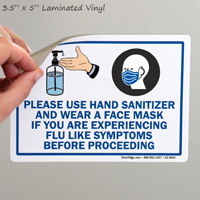 Hand Sanitizer Face Mask Signs