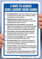 Good Laundry Room Karma Signs