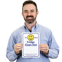 Fridge Clean Out Etiquette Sign