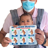 Be a germ buster hand washing sign