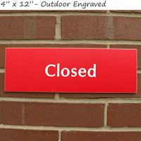 Closed Engraved Signs