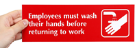 Employees Must Wash Their Hands Signs