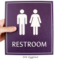 Restroom, Unisex, 8.625 in. x 7.75 in. Signs