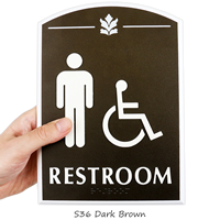 Restroom, with Men/ISA Handicapped Graphic Braille Signs