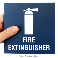 Fire Extinguisher Sign, with Graphic