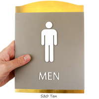 Men Graphic Braille Signs