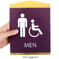 Men/ISA Handicapped Graphic and Braille Signs