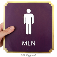 Men, with Graphic and Braille Signs
